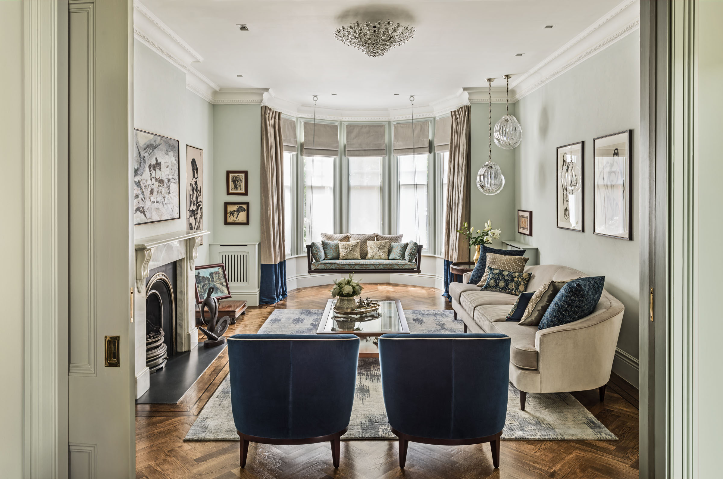 South hampstead house london luxury interior design for Living room interior ideas uk