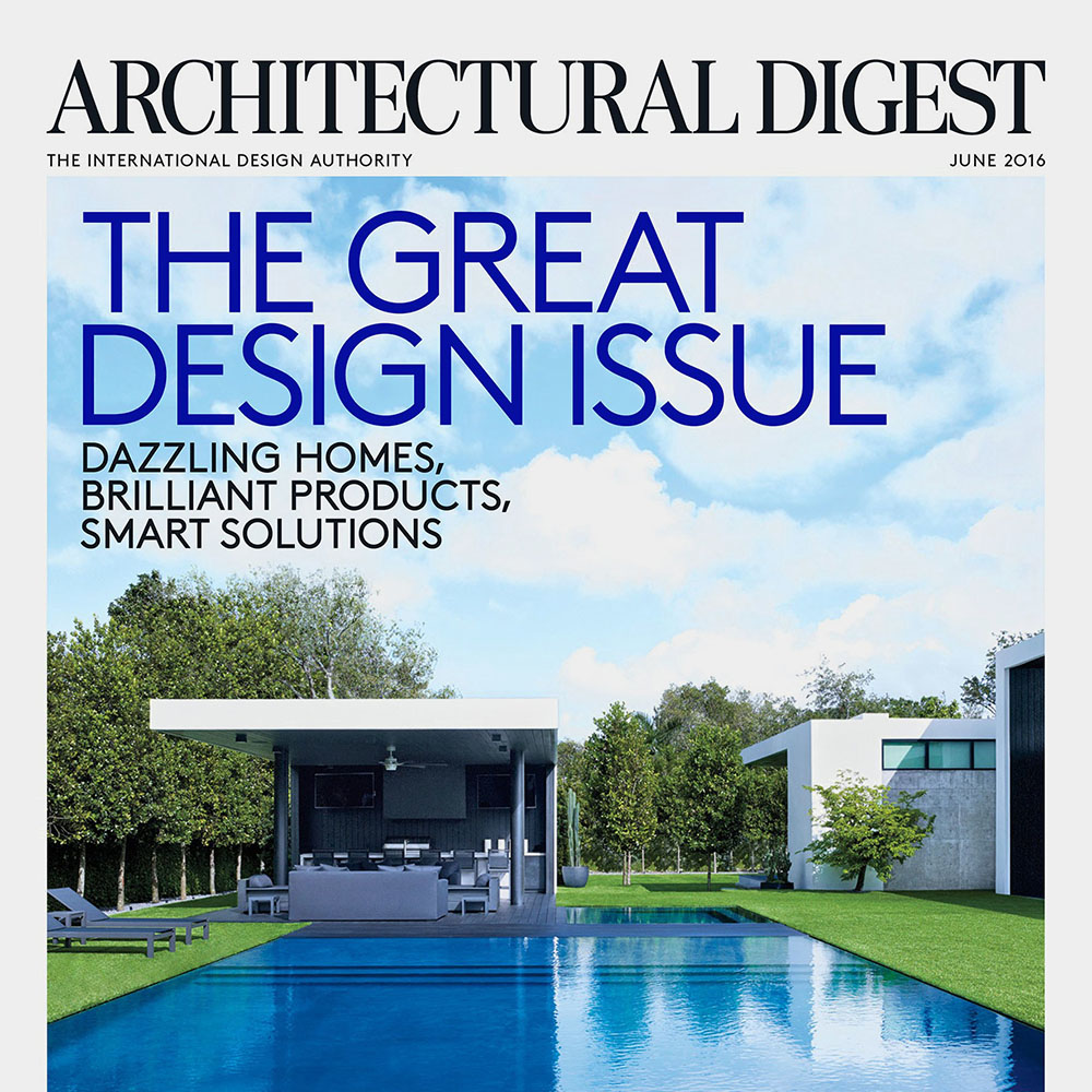 Architectural Digest USA June 2016 Cover The Great Design Issue
