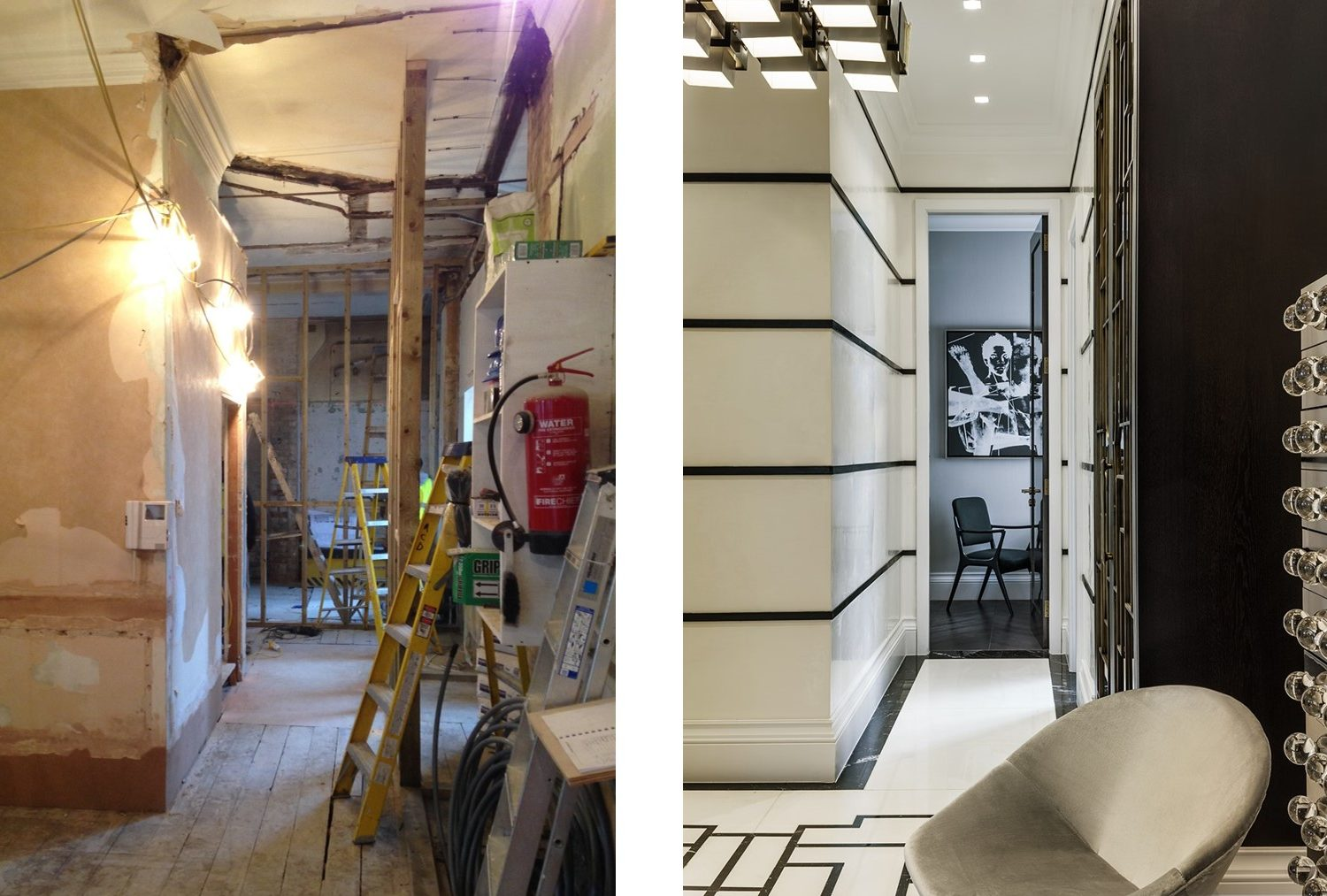 dream development by shalini misra mayfair squat hallway before and after