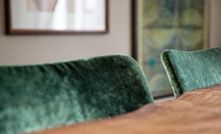 green accent dinging chair