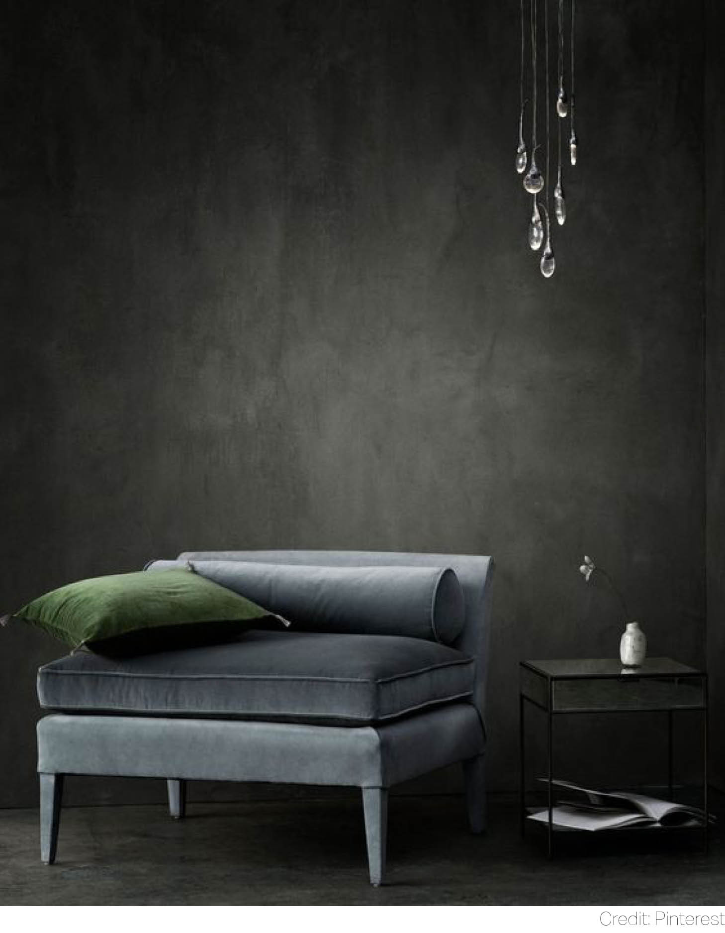caviar black masculine luxe charcoal monochrome configurations chelsea home