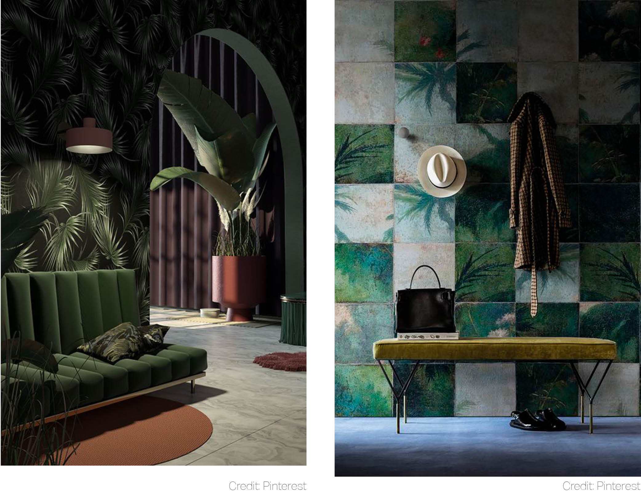 tropical luxe given a moody face dim lights sense of eternity space ochre and orpiment old tints interior design