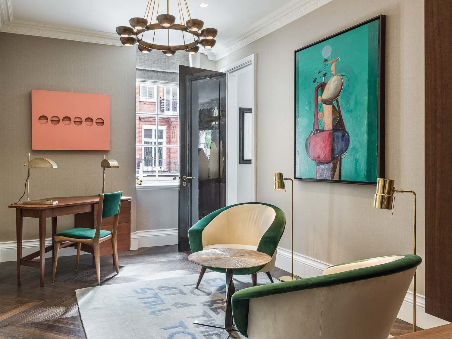 south audley street design writing desk and chairs
