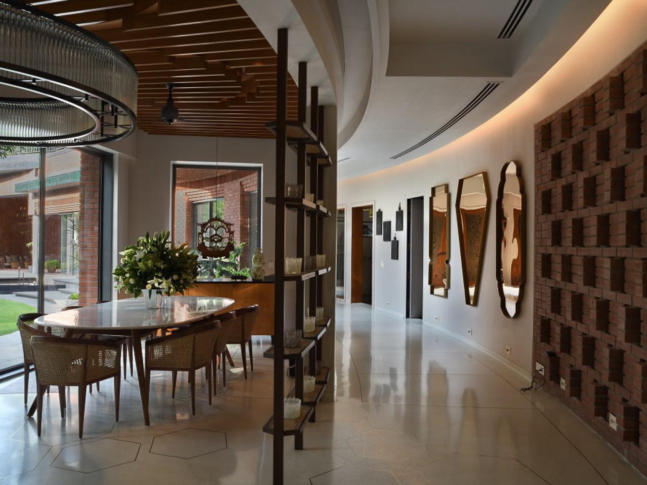 delhi family retreat farm house design hallway
