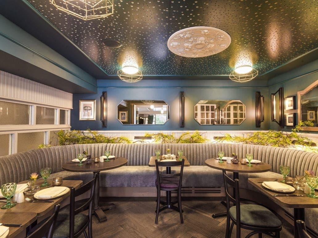 chakra riverside restaurant design lounge sofa dining area