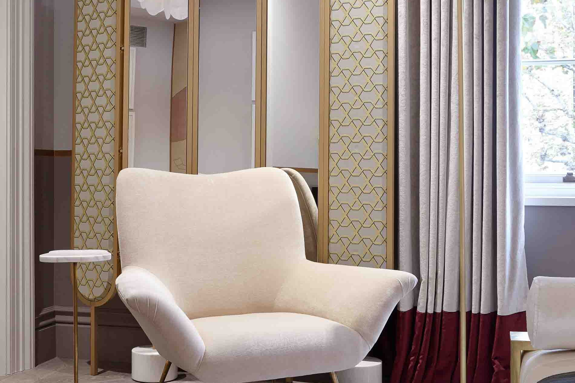 holiday house design master bedroom armchair