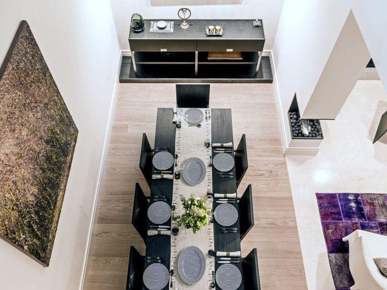 cheyne place design landing view of dining table