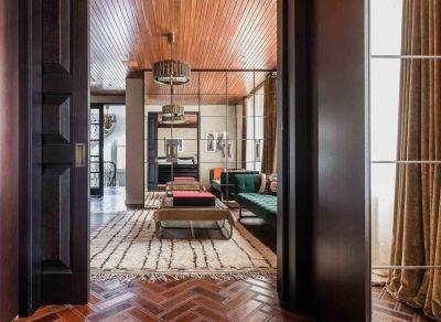 gilston road living room coffee table and green sofa