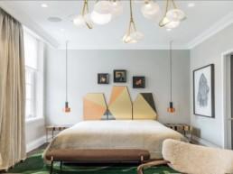 retro style bedroom