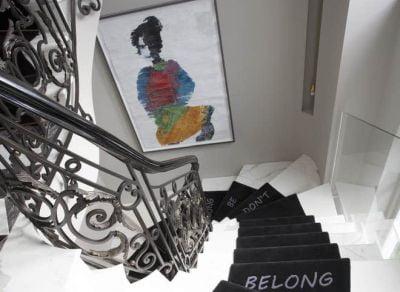 shalini misra staircase at chelsea gilston road