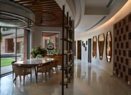shalini misra interior designer hallway dining room farm house india