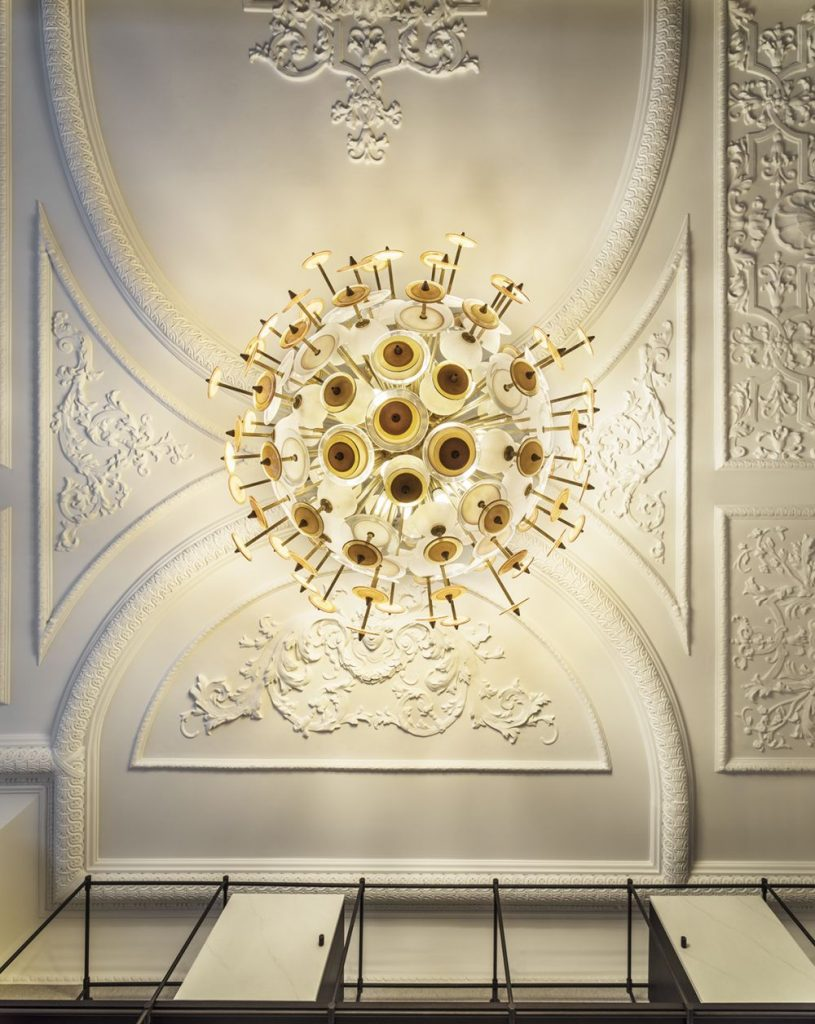 statement ceiling chandelier