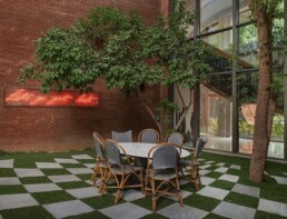 outdoor dining room space