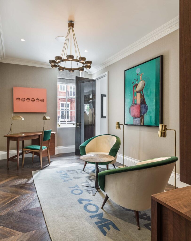 art for home south audley street interior design