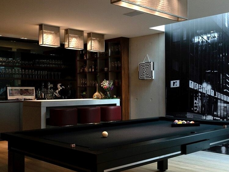 pool table in residential property