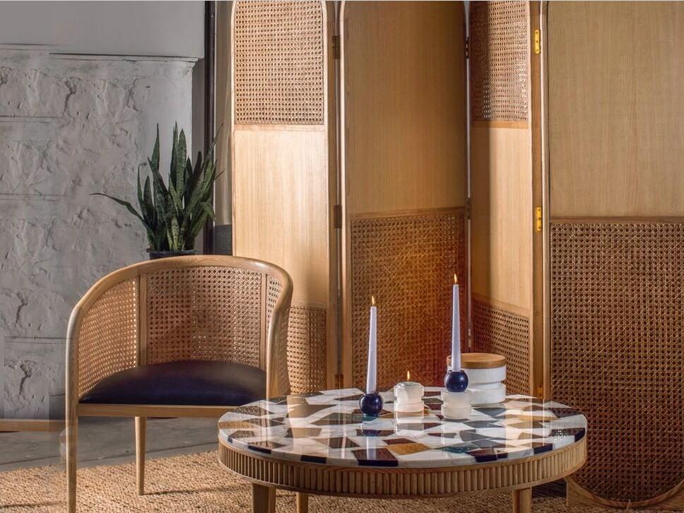 Divaar Timber & Cane Room Divider